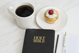 coffee and cupcakes for bible study