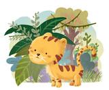 tigre feliz en la selva