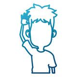 Cute and funny boy cartoon - 225774194
