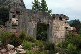 Ruins of ancient Greek town of Olympos near Cirali, Turkey