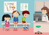 Children in medical clinic