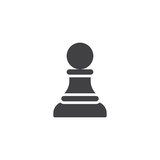Chess pawn vector icon. filled flat sign for mobile concept and web design. chess piece simple solid icon. Symbol, logo illustration. Pixel perfect vector graphics