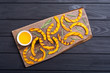 Leinwanddruck Bild - Grilled pumpkin with rosemary and honey