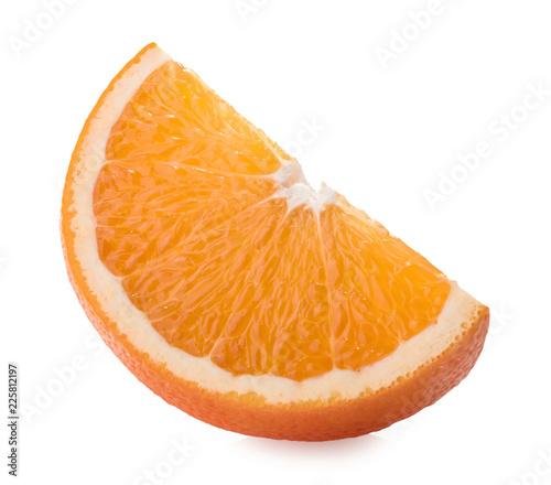 Foto Murales Orange slice isolated on white background