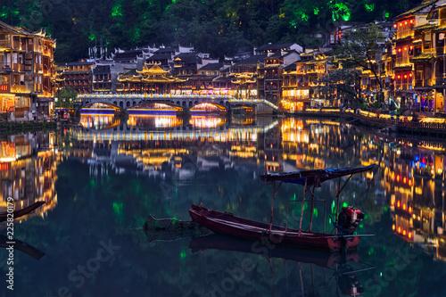 Feng Huang Ancient Town (Phoenix Ancient Town) , China - 225820179
