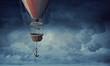 Quadro Air balloon in sky. Mixed media