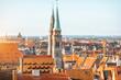 Leinwanddruck Bild - Old town in Nurnberg city, Germany