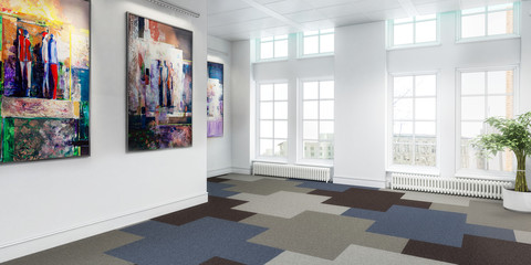 Meeting room in concept (panoramic)