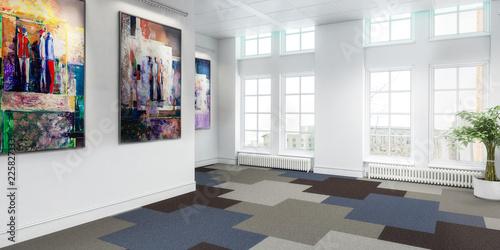 Fridge magnet Meeting room in concept (panoramic)