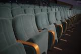 empty auditorium with seats - 225837361