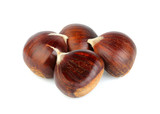 Fresh chestnuts isolated.Hippocastanum. - 225848717