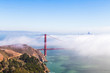 Golden Gate bridge surrounded by fog