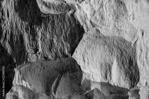 light and shatows on stone surface - 225865921