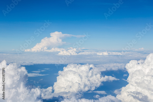 Clouds, a view from airplane window  - 225877193