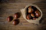 autumn fruits chestnuts - 225888592