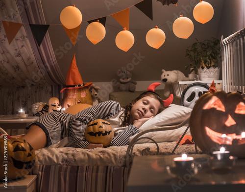 Foto Murales dreams in Halloween night
