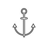 anchor icon. vector