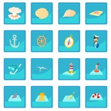 Sea icon blue app for any design vector illustration