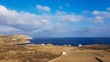 deniz dağlar ve gökyüzü, mykonos - 225932164
