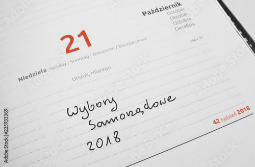 21 październik - Wybory Samorządowe