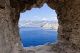 Bridge to the Isle of Pag croatia. - 225938786