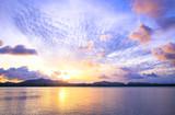 World environment day concept: Beach landscape at autumn sunset background. - 225943111