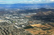 Aerial Cityscape with Blue Mountains - 225950911