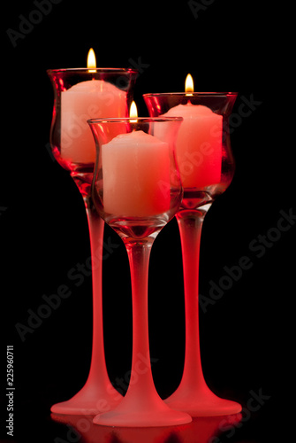 Three Romantic Candles