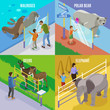 Zoo Animals Isometric Design Concept