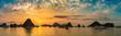 Leinwanddruck Bild - Sunset in Halon bay, Vietnam