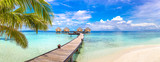 Fototapeta Perspektywa 3d - Water Villas (Bungalows) in the Maldives © Sergii Figurnyi