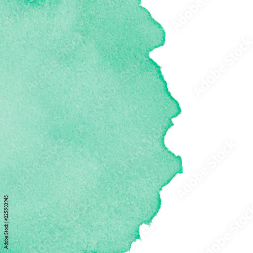 Sticker Green abstract watercolor background with space for text. Editable template for banner, poster, cover, brochure, flyer.