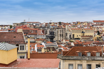 Lisbon skyline viewed from the castle - the Elevador de Santa Justa can be seen in the distance © Alan Smithers