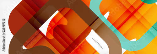 Square geometric background, multicolored template for business or technology presentation or web brochure cover layout, wallpaper. - 225997312