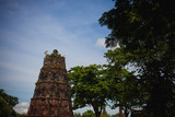 Ancient city in Ayuthaya Thailand as Landmark