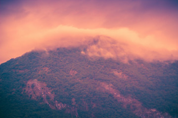 Mountains at sunset. Scenic nature landscape. © iryna1