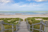 Stairs to the North Sea beach at Blankenberge, Belgium