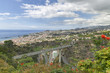 aerial view on Funchal, capital of Madeira Island, Portugal - 226039772