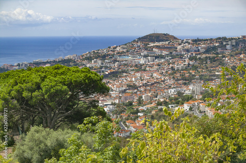 aerial view on Funchal, capital of Madeira Island, Portugal - 226039721
