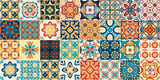 Traditional ornate portuguese decorative tiles azulejos. - 226064950