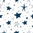 Hand drawn Stars Vector Pattern - 226072906