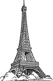 Eiffel Tower drawing vector