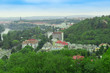 European city on the background of green forest - 226083947