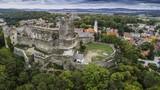 Bolków panorama na zamek i miasto z lotu ptaka - 226100792