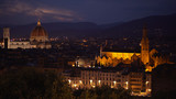 Night cityscape of Florence with Cathedral Santa Maria del Fiore in view