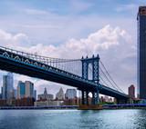 New York City Manhattan midtown with Brooklyn Bridge.USA