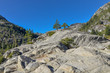 granite rocks of Sierra Nevada mountains surrounding Lake Tahoe El Dorado county, California