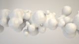 Abstract white bubble from spherecial shapes - 226150718