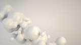 Abstract white bubble from spherecial shapes