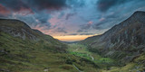 Beautiful dramatic landscape image of Nant Francon valley in Snowdonia during sunset in Autumn - 226169966